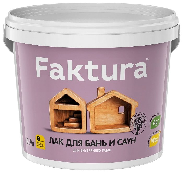 Лак Faktura Для бань и саун (0.9 л) полиакриловый