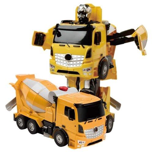 Купить Робот-трансформер Jia Qi Troopers Velocity Бетономешалка желтый/черный, Роботы и трансформеры