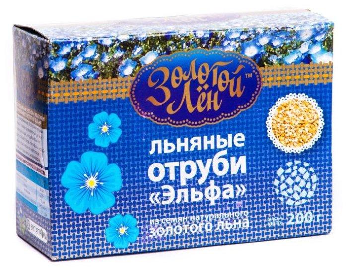 Золотой Лен Отруби льняные картонная коробка, 200 г