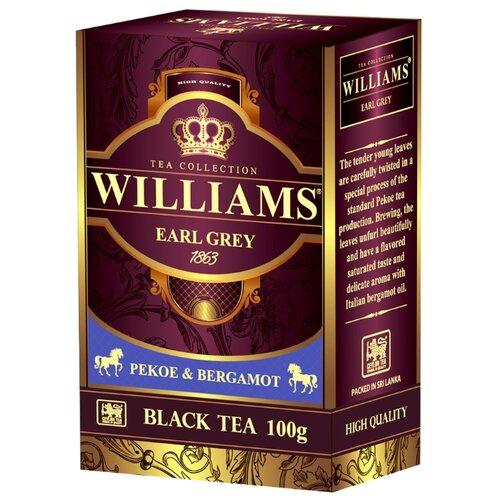 Чай черный Williams Earl grey, 100 гЧай<br>