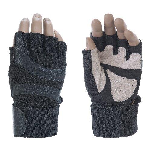 Перчатки Indigo с широким напульсником IR 97838 черно-белый XLПерчатки<br>