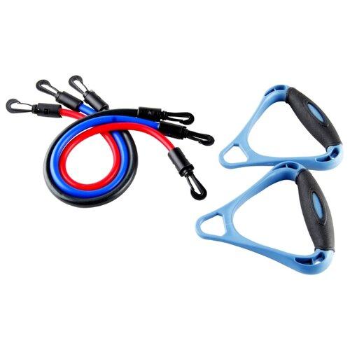Эспандер плечевой Indigo 12102 HKAS 3 жгута черный/синий/красныйЭспандеры и кистевые тренажеры<br>
