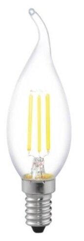 Лампа светодиодная филаментная (UL-00002229) Uniel E14 6W 4000K прозрачная LED-CW35-6W/NW/E14/CL GLA01TR