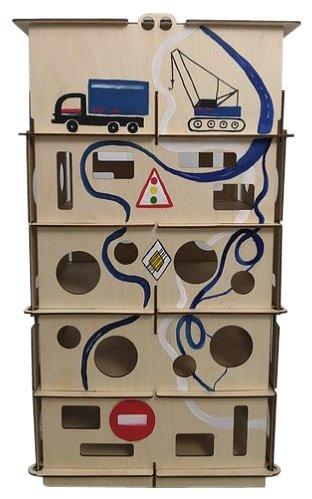 DOMIK.TOYS Многоуровневая парковка с ручной росписью Совёнок-Доменико