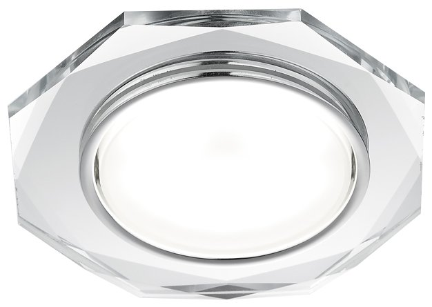 Встраиваемый светильник Ambrella light G8020 CH, хром/прозрачный