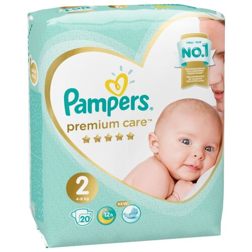 Купить Pampers подгузники Premium Care 2 (4-8 кг) 20 шт., Подгузники