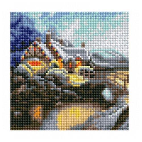 Купить Рыжий кот Набор алмазной вышивки Зимний пейзаж (AS20005) 21х21 см, Алмазная вышивка