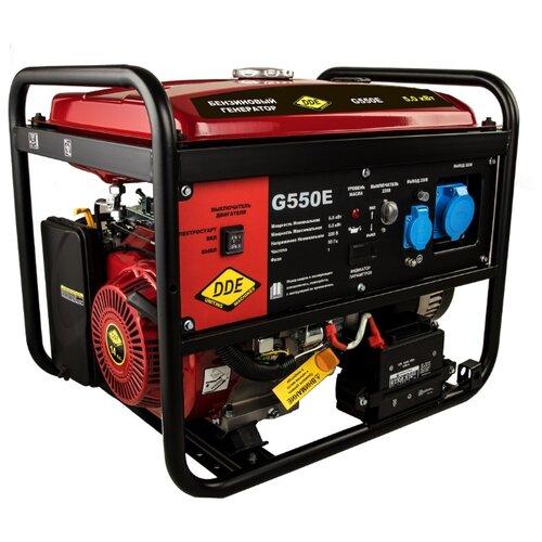 Бензиновый генератор DDE G550E (5000 Вт) бензиновый генератор dde g550e 5000 вт