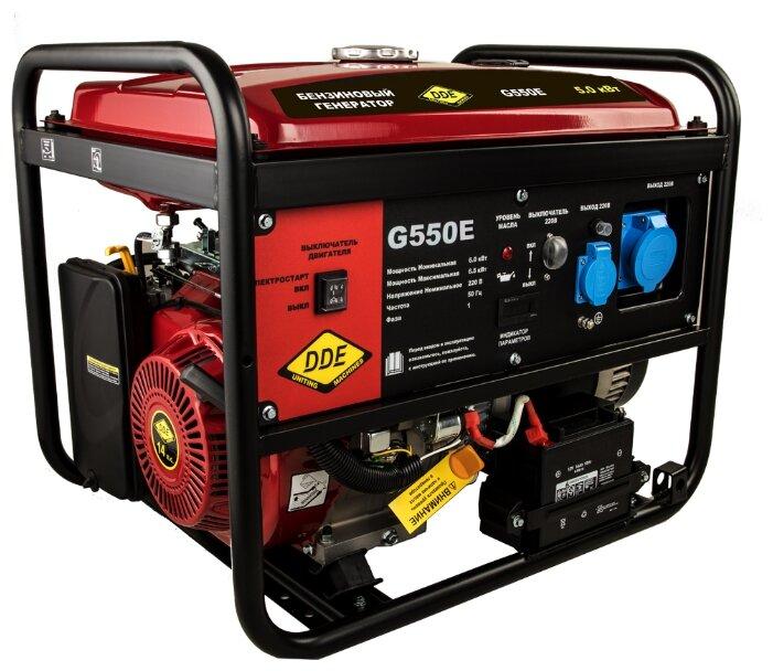 Бензиновый генератор DDE G550E (5000 Вт)