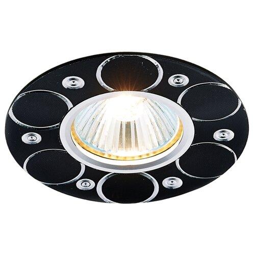 Встраиваемый светильник Ambrella light A808 BK/AL, сатин/черный встраиваемый светильник ambrella light a801 bk al