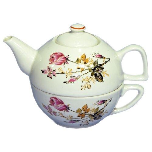 Чайный сервиз Добрушский фарфоровый завод Голландская роза 2 предметаСервизы<br>