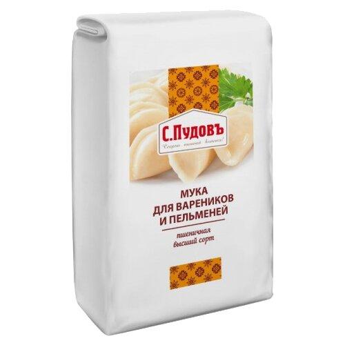 Мука С.Пудовъ пшеничная для вареников и пельменей высший сорт 1 кг фото