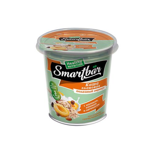 Smartbar Каша злаковая, не требующая варки с молоком, изюмом и абрикосом, 40 г