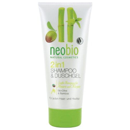 Гель-шампунь для душа 2 в 1 Neobio Organic Olive & Bamboo, 200 мл