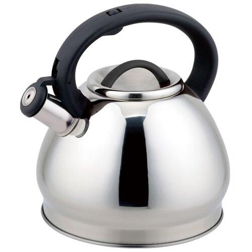 Rainstahl Чайник со свистком 7627-30RS\WK 3 л, стальной/черный rainstahl чайник 7625 30rs wk 3 л стальной черный