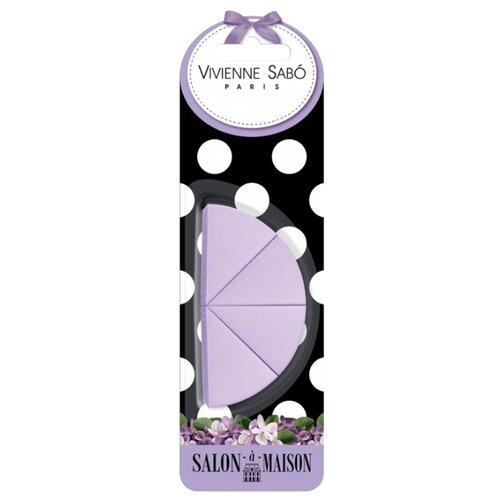 Набор спонжей Vivienne Sabo для макияжа Triangular Makeup Sponges Set, 4 шт. фиолетовый по цене 196