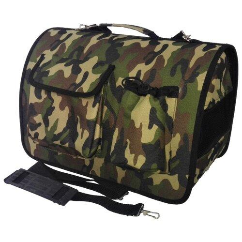 Переноска-сумка для кошек и собак LOORI Z2369 46х28х29 см камуфляжТранспортировка, переноски<br>