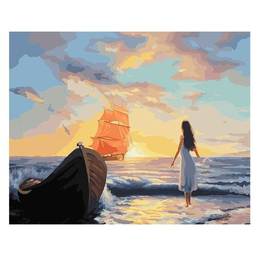 Купить Белоснежка Картина по номерам Алые паруса 40х50 см (093-АВ), Картины по номерам и контурам