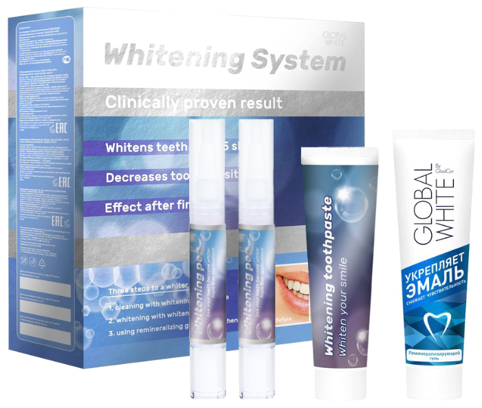Global White Система для домашнего отбеливания зубов Premium