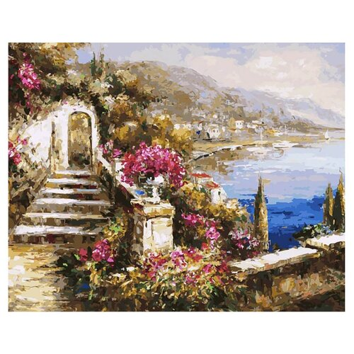 Купить Белоснежка Картина по номерам Вид на море 40х50 см (164-AB), Картины по номерам и контурам