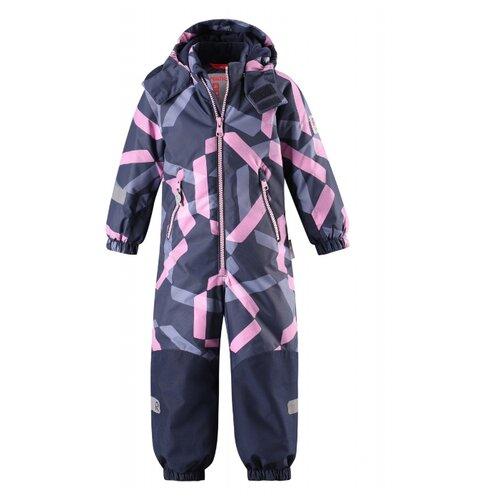 Купить Комбинезон Reima Kiddo Snowy 520225B размер 92, розовый/синий, Теплые комбинезоны