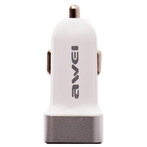 Автомобильная зарядка Awei C-200 белый / серебристый автомобильная зарядка mango