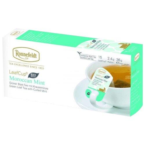 Чай зеленый Ronnefeldt LeafCup Moroccan Mint в пакетиках, 15 шт.Чай<br>