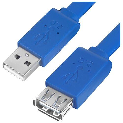 Купить Кабель GreenConnect USB - USB (GCR-UEC2M2-BD) 1.8 м синий