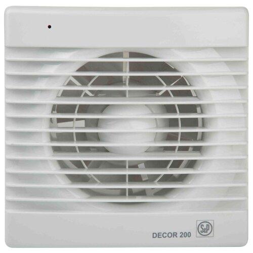 Вытяжной вентилятор Soler & Palau DECOR 200 C, белый 20 Вт вытяжной вентилятор soler