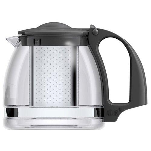 Veitron Чайник заварочный стеклянный ZJ900 900 мл прозрачный/черныйЗаварочные чайники<br>