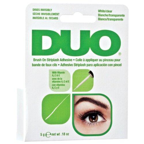 Duo Клей для накладных ресниц Brush On Clear Adhesive 5 г White/ Clear клей для накладных ресниц duo clear lash adhesive 7 мл