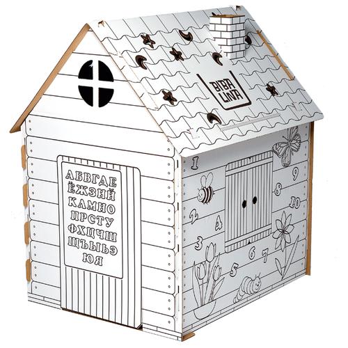Фото - BibaLina Раскраска картонный домик КДР03-001 mochtoys раскраска картонный домик 10721