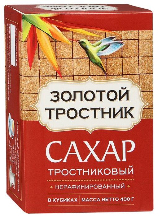 Сахар тростниковый Золотой Тростник нерафинированный в кубиках 400г