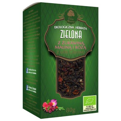 Чай зеленый Dary Natury Zielona z żurawina malina i róża, 80 г недорого