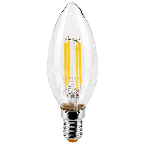 Лампа светодиодная Wolta E14, C37, 7Вт