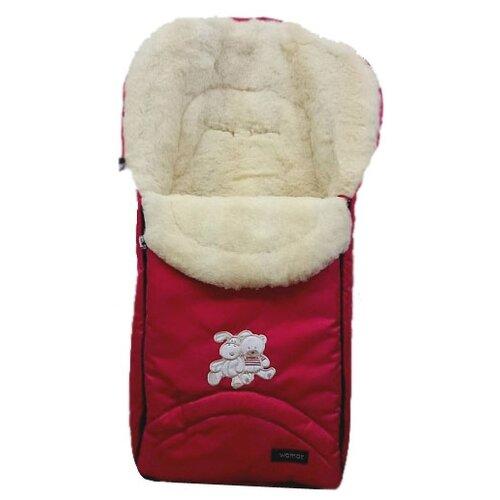 Конверт-мешок Womar Excluzive в коляску 95 см 4/2 красныйКонверты и спальные мешки<br>