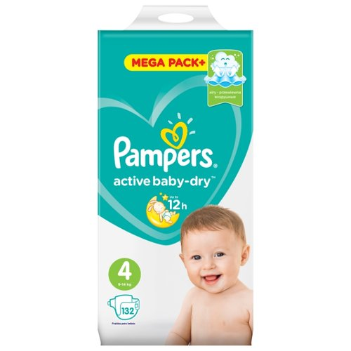 Pampers подгузники Active Baby-Dry 4 (9-14 кг) 132 шт. подгузники pampers active baby dry 5 11 16 кг 60 шт