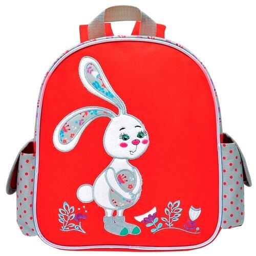 Феникс+ Рюкзак детский Скромный зайка (45941), красный