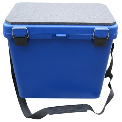 Ящик для рыбалки HELIOS М односекционный 39х25.7х32см синий
