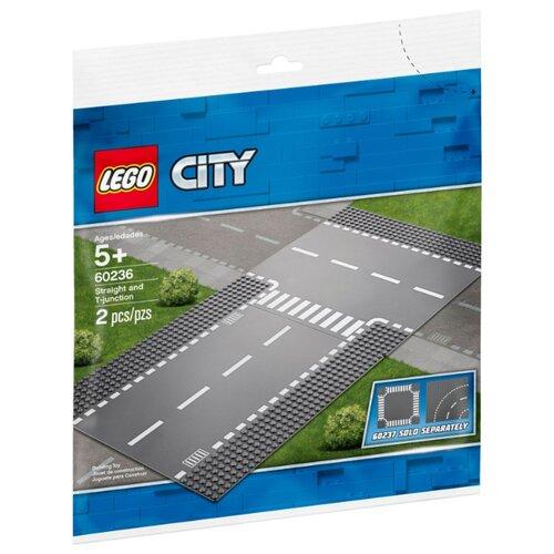 Дополнительные элементы для конструктора LEGO City 60236 Т-образный перекрестокКонструкторы<br>