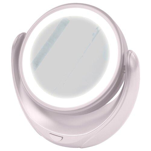 Зеркало косметическое настольное MARTA MT-2653 с подсветкой белый жемчуг