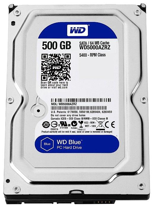 Внутренний жесткий диск WD Blue 500GB (WD5000AZRZ)