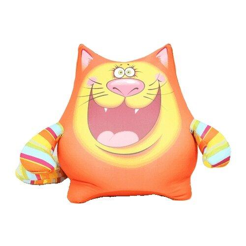 Игрушка-антистресс Штучки, к которым тянутся ручки Котик веселый животик оранжевый 30 смМягкие игрушки<br>