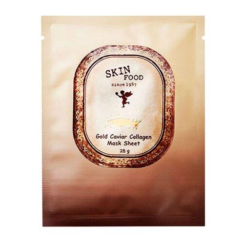 Skinfood Тканевая маска с золотом, коллагеном и экстрактом икры, 28 гМаски<br>