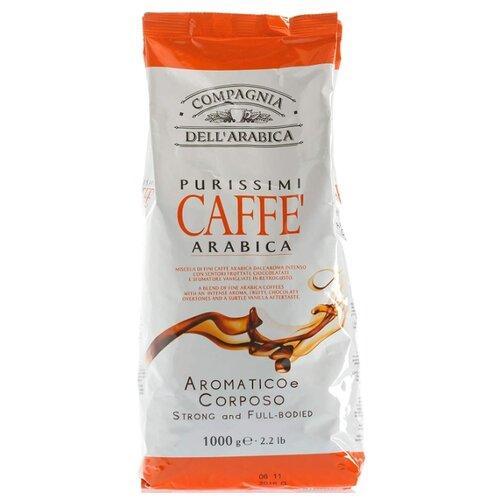Кофе в зернах Compagnia Dell` Arabica Purissimi Arabica Aromatico Corposo, арабика, 1 кг кофе в зернах italcaffe espresso 100% arabica 1 кг