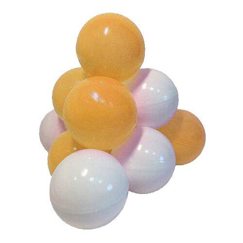 Шарики для сухих бассейнов Hotenok Мыльные пузыри 50 штук, 7 см (sbh132) желтый/белый