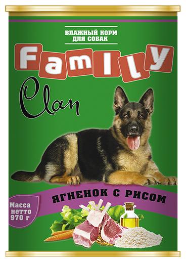 Корм для собак CLAN ягненок с рисом 970г
