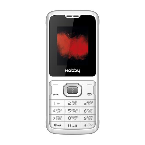 Телефон Nobby 110 белый / серый телефон