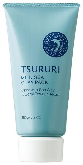TSURURI Маска Mild Sea Clay Pack с окинавской морской глиной, коралловым порошком и водорослями