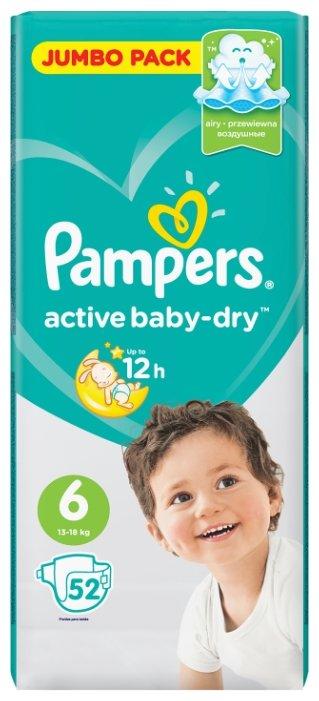Pampers подгузники Active Baby-Dry 6 (13-18 кг) 52 шт.
